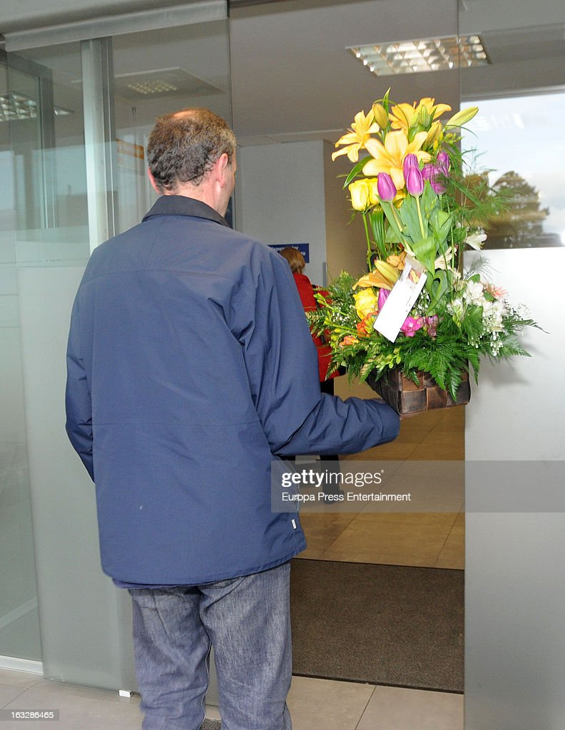 Flowers for Marta Ortega after giving birth her first son Amancio Alvarez at Quiron Hospital on March 6, 2013 in A Coruna, Spain.
