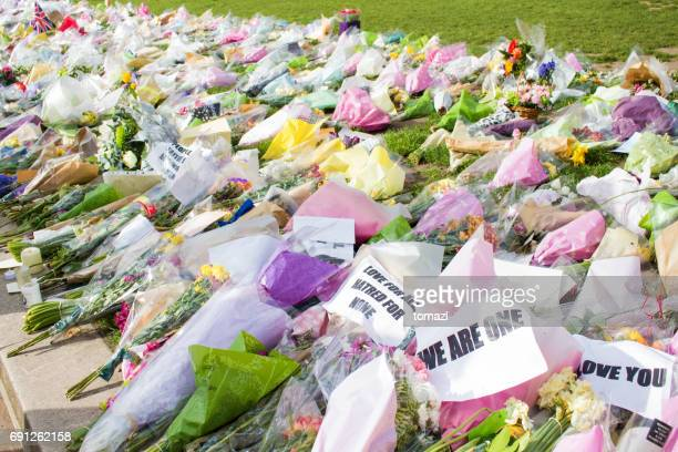 Flowers for terrorist victims