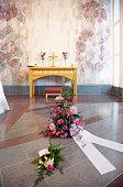 Flowers in chapel