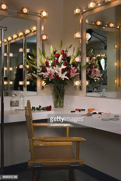 Flowers in dressing room