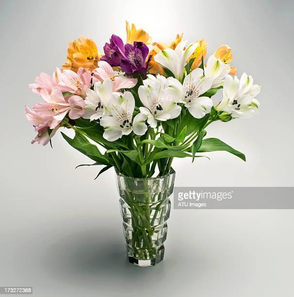 Flowers in glass vase