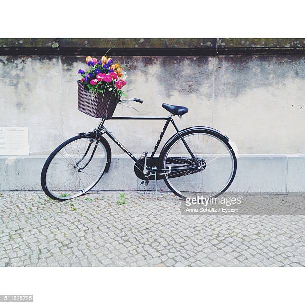 Flowers in the bicycles basket