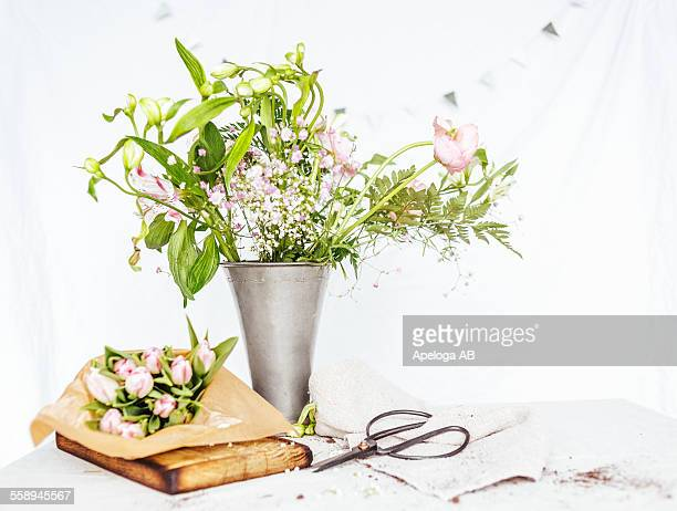 Flowers in vase on table