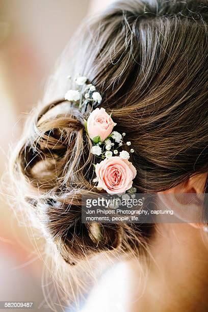 Flowers in woman hair
