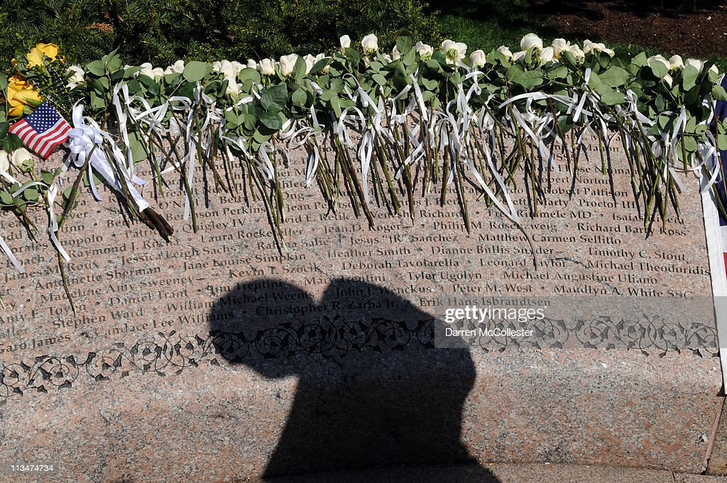 Flowers lay upon the Garden Of Remembrance May 2, 2011 in Boston, Massachusetts. Families of local victims of the Sept. 11, 2001 terrorist attacks gathered at the 9/11 memorial to reflect upon the death of Osama Bin Laden. Photo by Darren McCollester/Getty Images)