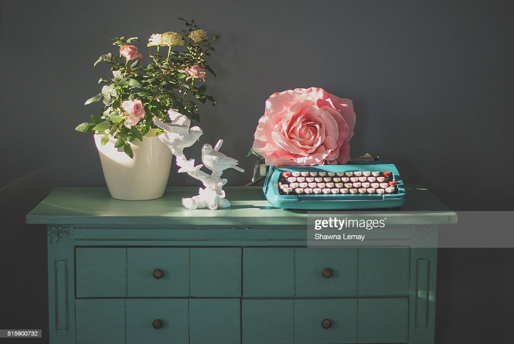 Flowers on a Blue Chest