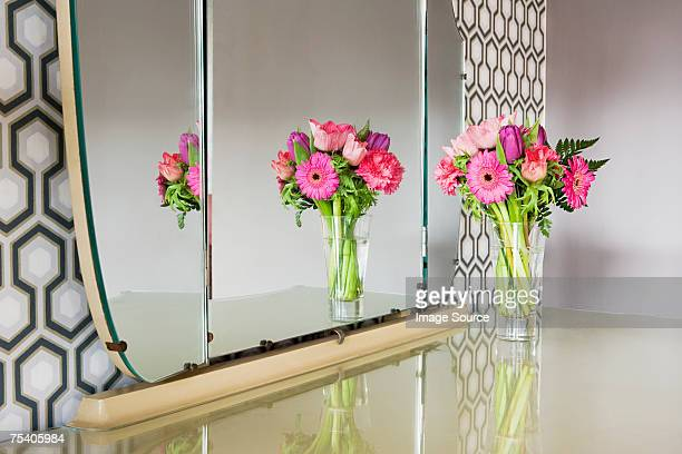 Flowers on a dressing table