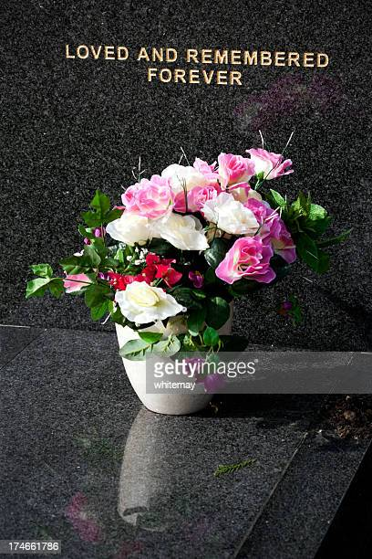 Flowers on a tomb