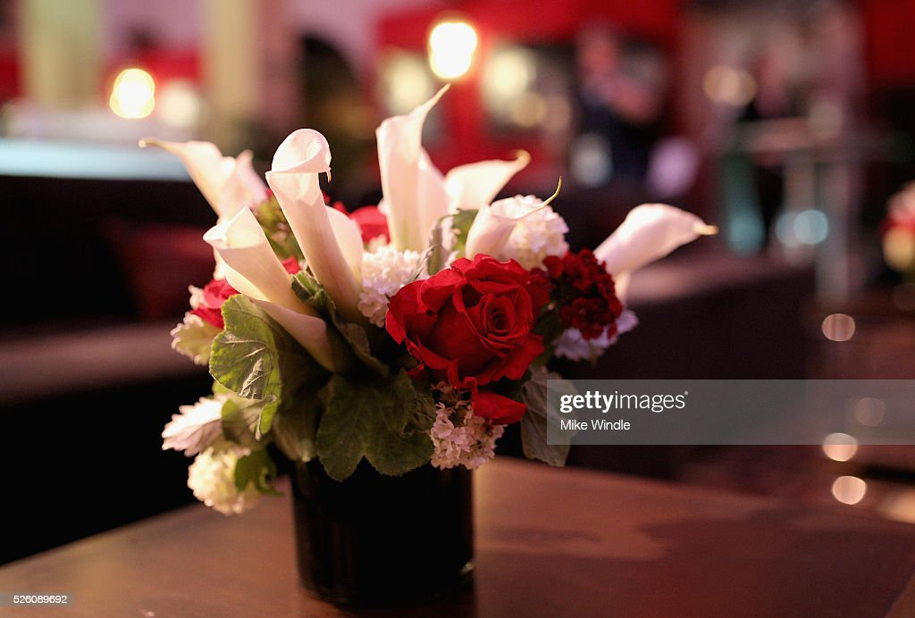 Flowers on display during day 2 of the TCM Classic Film Festival 2016 on April 29, 2016 in Los Angeles, California. 25826_008