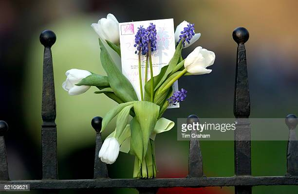 Flowers Outside Clarence House During The Official Mourning Period For The Queen Mother