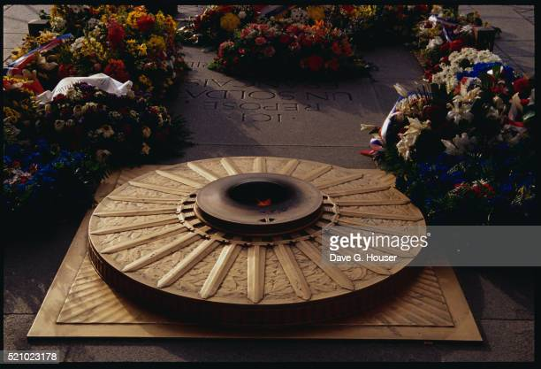 Flowers Surrounding the Tomb of the Unknown Soldier in Paris