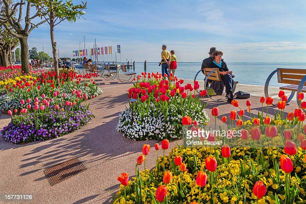 Flowery Promenade on Lake Garda, Italy