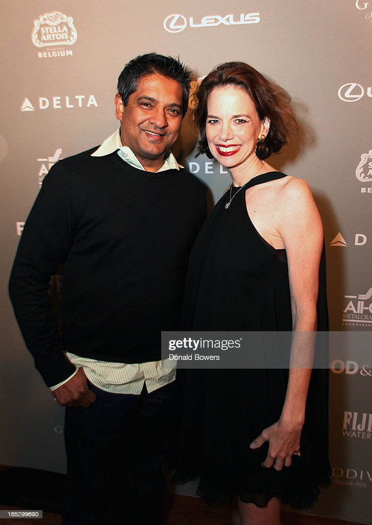 Floyd Cardoz and Dana Cowin attend The FOOD & WINE 2013 Best New Chefs Party at Pranna Restaurant on April 5, 2013 in New York City.