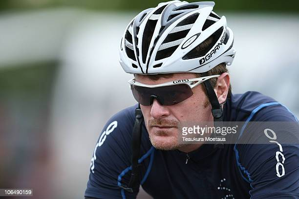 Floyd Landis of USA prepares for Stage Six of the Tour of Southland on November 4 2010 in Invercargill New Zealand