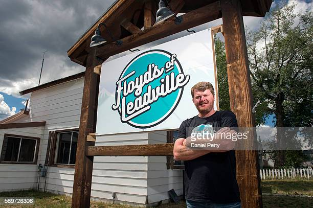 Floyd Landis poses for a portrait in front of his office for Floyd's of Leadville on August 13 in Leadville Colorado