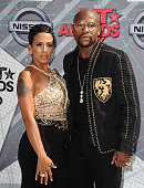 Floyd Mayweather and guest attend the 2016 BET Awards at Microsoft Theater on June 26 2016 in Los Angeles California