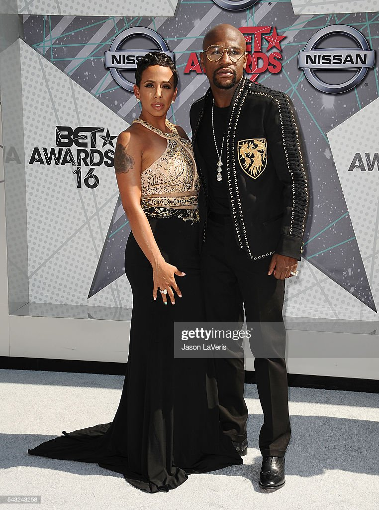 Floyd Mayweather and guest attend the 2016 BET Awards at Microsoft Theater on June 26, 2016 in Los Angeles, California.
