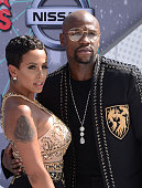 Floyd Mayweather and Melissia Brim attend the 2016 BET Awards at Microsoft Theater on June 26 2016 in Los Angeles California