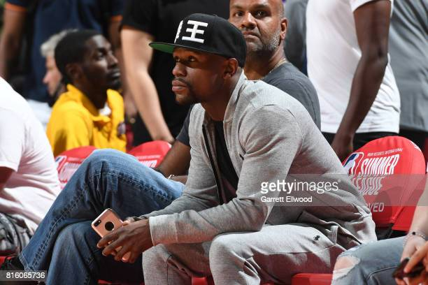 Floyd Mayweather attended the Milwaukee Bucks vs Cleveland Cavaliers Summer League game on July 7 2017 at the Thomas Mack Center in Las Vegas Nevada...