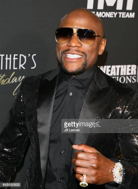 Floyd Mayweather celebrates is 40th Birthday on February 25 2017 in Los Angeles California