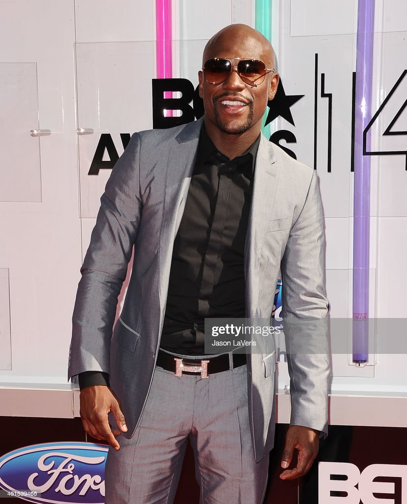 <a gi-track='captionPersonalityLinkClicked' href=/galleries/search?phrase=Floyd+Mayweather+Jr&family=editorial&specificpeople=2294114 ng-click='$event.stopPropagation()'>Floyd Mayweather Jr</a>. attends the 2014 BET Awards at Nokia Plaza L.A. LIVE on June 29, 2014 in Los Angeles, California.