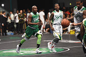 Floyd Mayweather participates in the Celebrity Basketball Game at BET Experience at the Convention Center in Los Angeles on June 25 2016 / AFP /...