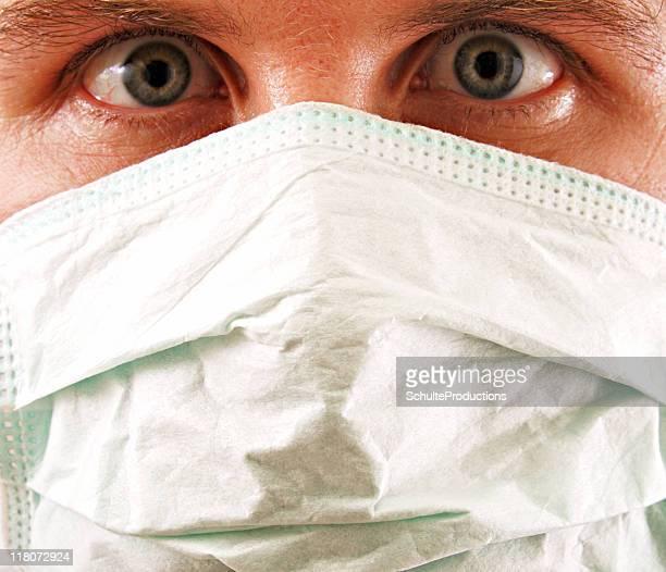Grippeschutzmaske Nahaufnahme