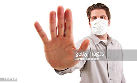 Flu Masked Man