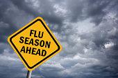 Illustration of flu season ahead sign