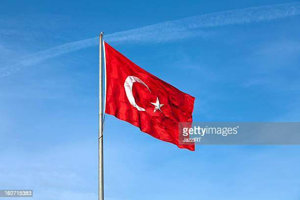 Fluctuating wind, the great Turkish Flag