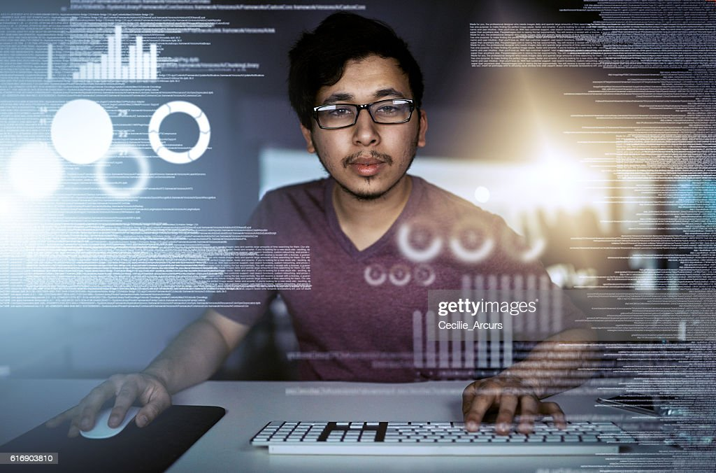 Fluent in many languages : Stock Photo
