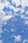 Bright cloud on beautiful blue sky , Fluffy clouds formations at tropical zone