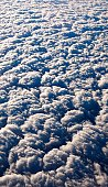 Fluffy clouds from above.