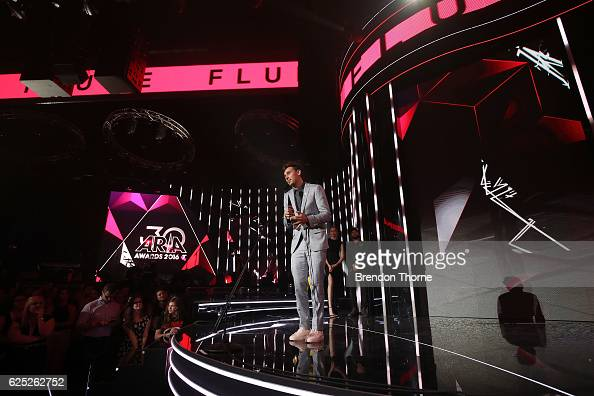 Flume accepts the ARIA for Telstra Album of the Year during the 30th Annual ARIA Awards 2016 at The Star on November 23 2016 in Sydney Australia
