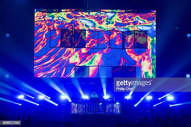 Flume performs at the Contact Winter Music Festival at BC Place on December 26 2016 in Vancouver Canada