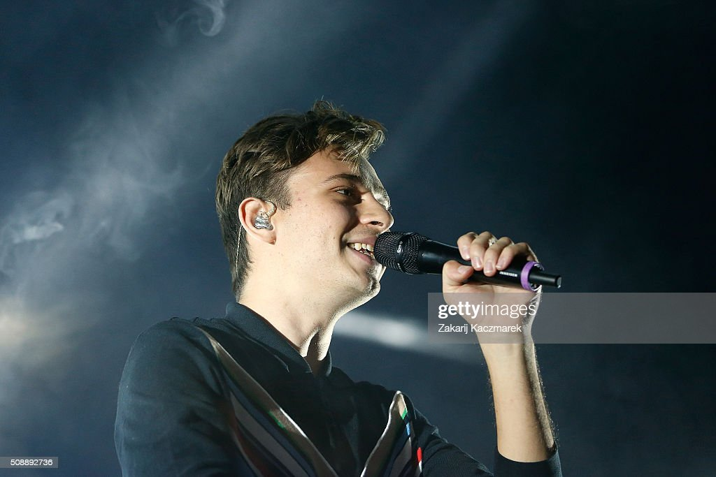 Flume performs live on stage at St Jerome's Laneway Festival on February 7, 2016 in Sydney, Australia.
