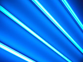 Fluorescent lamps, abstract background