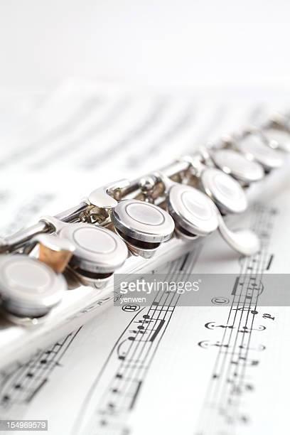 Gros plan de la flûte à musique