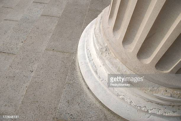 Fluted Stone Column Base Close Up