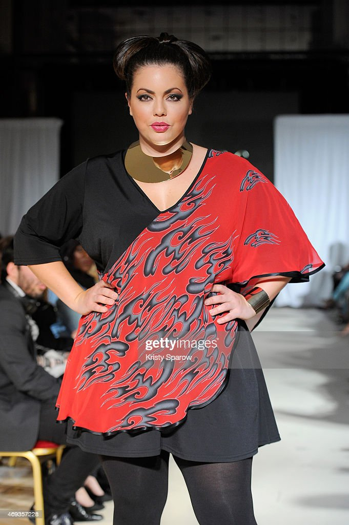 Fluvia Lacerda walks the runway for <a gi-track='captionPersonalityLinkClicked' href=/galleries/search?phrase=Firmine+Richard&family=editorial&specificpeople=615504 ng-click='$event.stopPropagation()'>Firmine Richard</a> during the Third Pulp Fashion Week at Salon Hoche on April 11, 2015 in Paris, France.