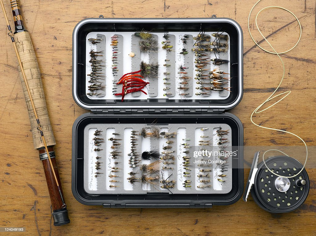 Fly Box, Rod and Reel