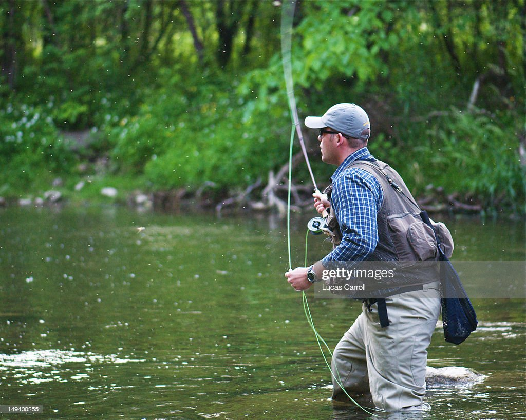 Fly casting : Stock Photo
