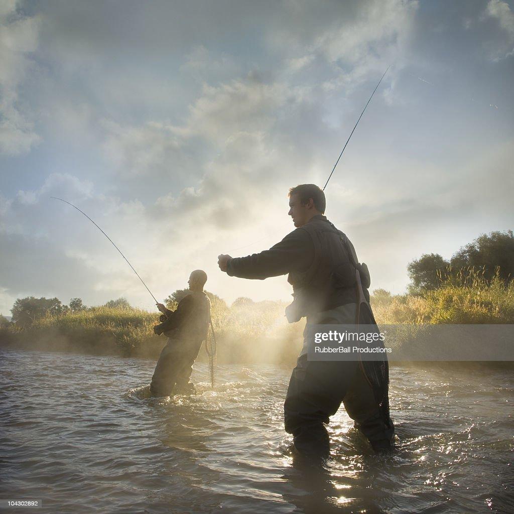 fly fisherman : Stock Photo