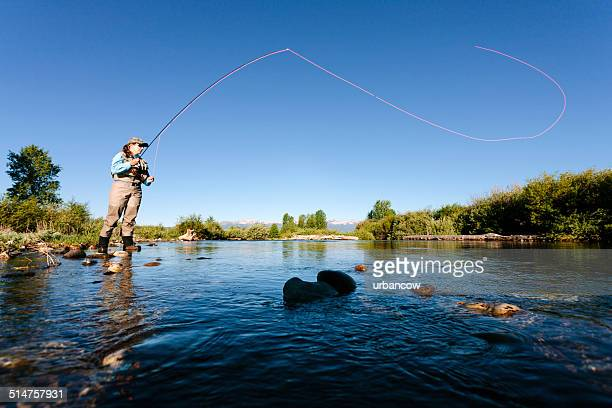 Fly fishing, casting