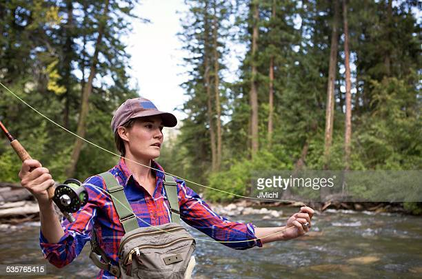 Exclusión de la pesca de trucha en el oeste de Estados Unidos del río.