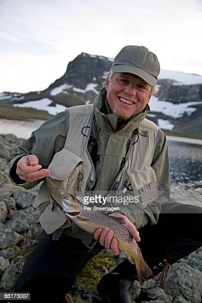 fly fishing in Hallingskarvet, Norway