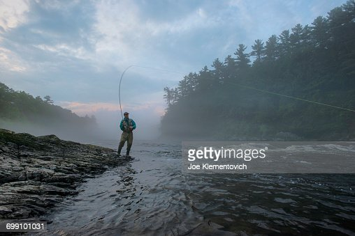 Fishing vest stock photos and pictures getty images for Maine fly fishing