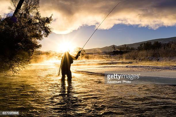 Fly Fishing in Winter at Sunrise