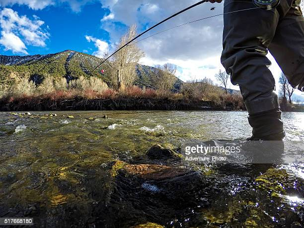 Fly Fishing POV on the Eagle River in Late WInter