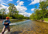 Fly fishing with success